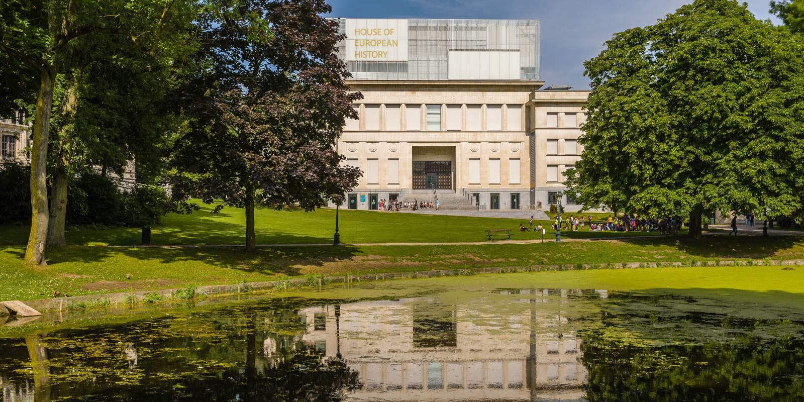 House of European history with green garden sorounding in Brussels