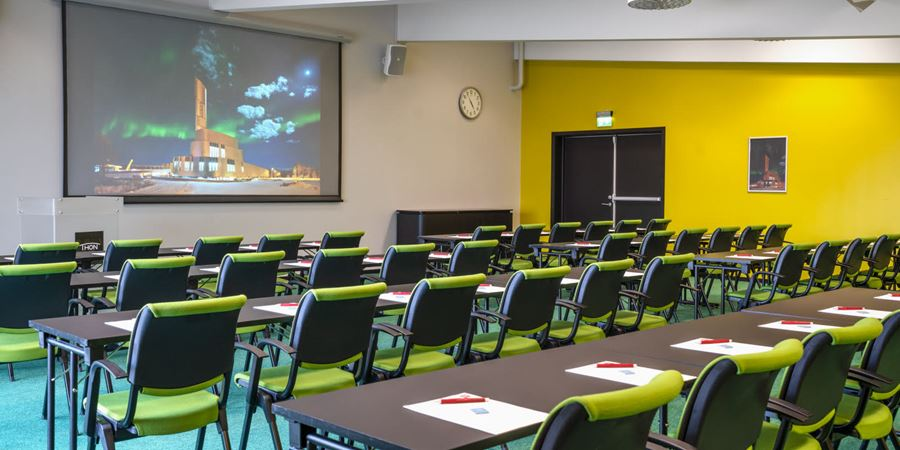 The largest conference venue at Thon Hotel Alta seats 120