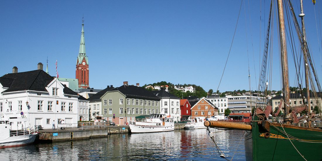 The waterfront at Tyholmen in Arendal