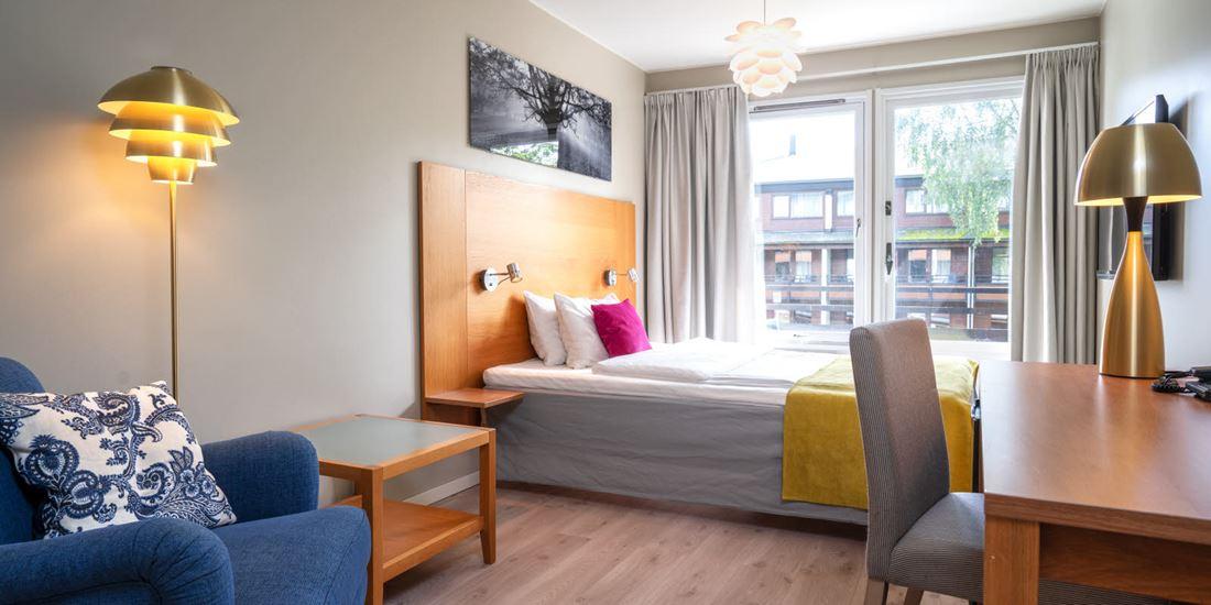 Standard Queen Room med skrivebord og utsikt på Thon Hotel Vettre