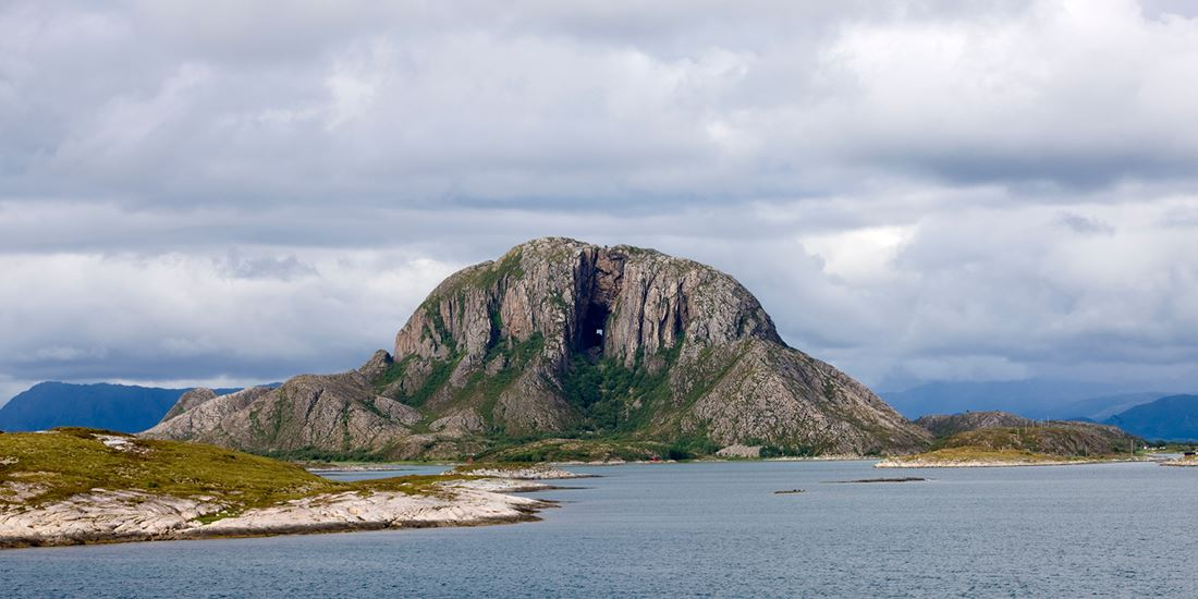 Torghatten mountain with its characteristic hole
