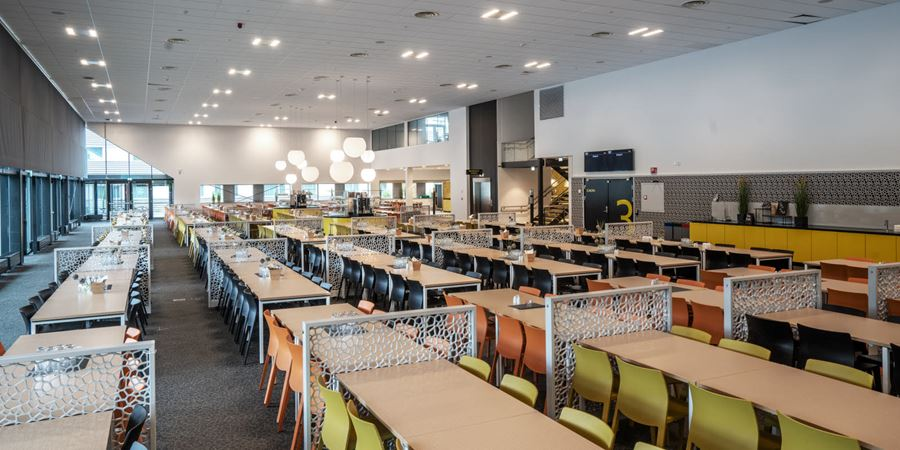Common areas with seating at Thon Hotel Oslo Airport