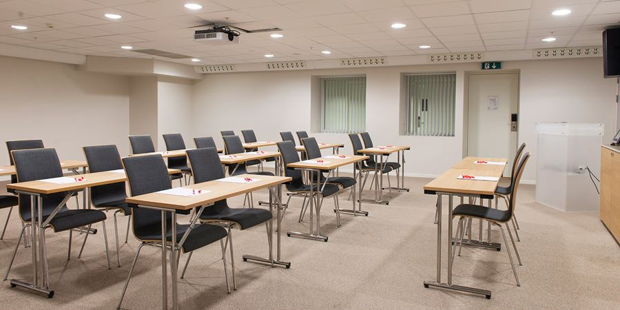 Conference venue at Thon Hotel Hammerfest in a classroom layout to seat 26