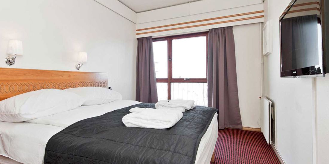 Bed in Superior-kamer in Thon Hotel Saga in Haugesund