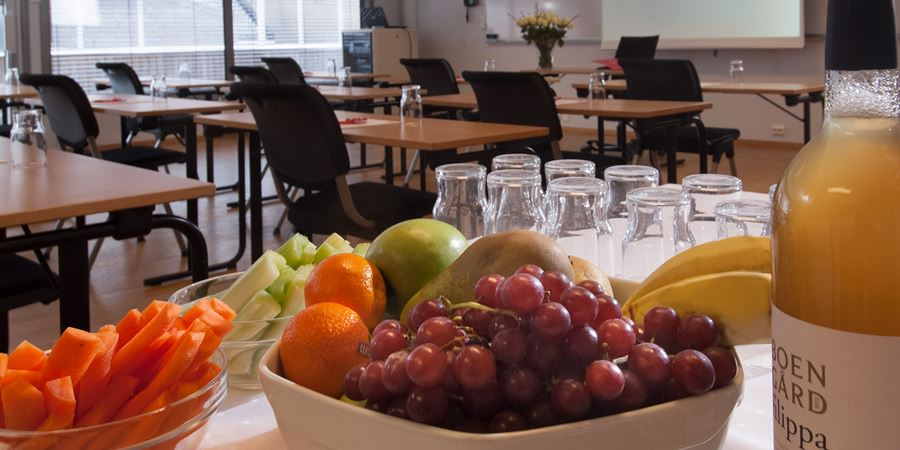 Break-time catering with fruit and vegetables at Thon Hotel Kristiansand