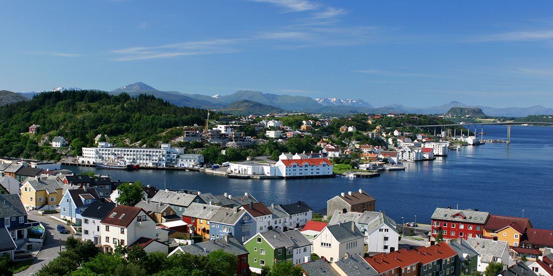 The view of Kristiansund, looking inland