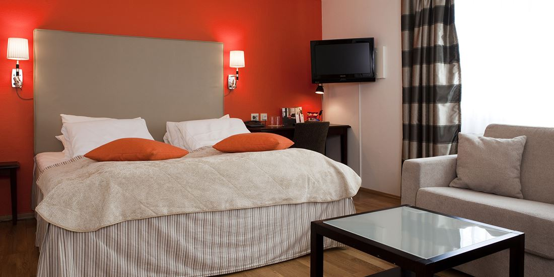 Bed in familiekamer in Thon Hotel Linne in Oslo