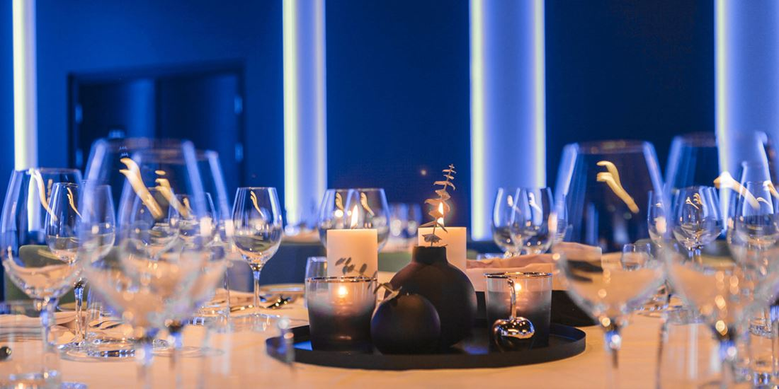 Banquet table details at Thon Hotel Storo