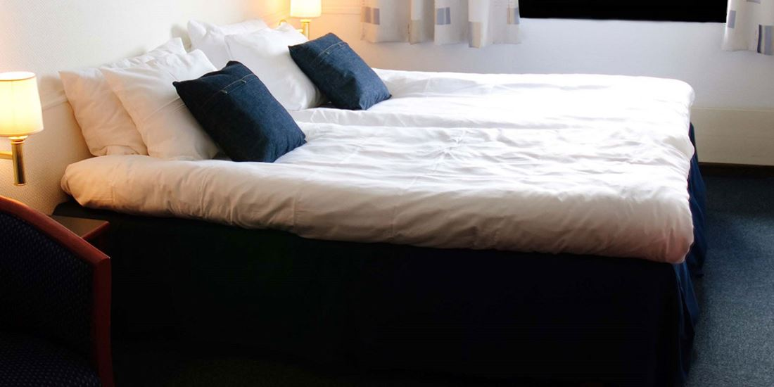 The beds in a Twin room at Thon Hotel Sandnes