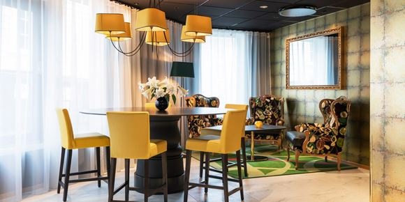 The lounge at the newly opened Thon Hotel Stavanger