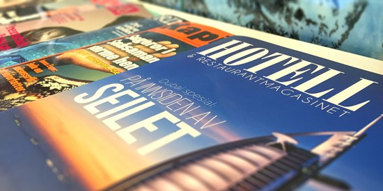 Covers of hotel magazines