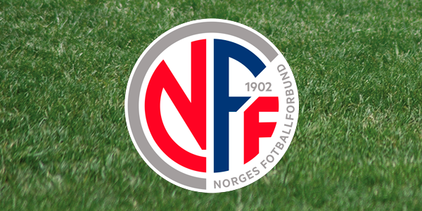Football pitch with the logo of the Norwegian Football Association