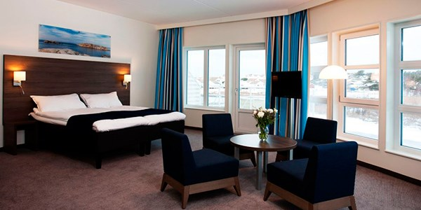 A suite at TanumStrand Hotel